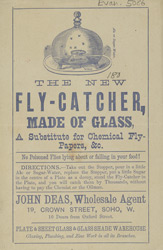 Advertisement for a fly-catcher